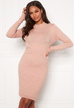 OBJECT Thess L/S Knit Dress Misty Rose Bubbleroom.no
