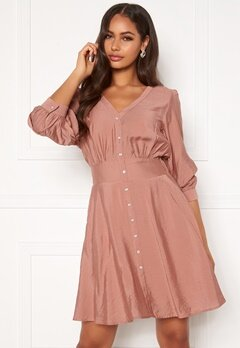 OBJECT Tilli 3/4 Dress Misty Rose Bubbleroom.no