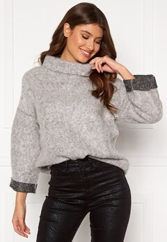 OBJECT Trina Sweat Pullover Light Grey Melange Bubbleroom.no