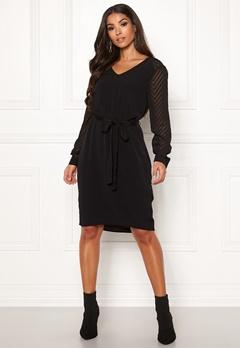 OBJECT Zoe L/S Dress Black Bubbleroom.no