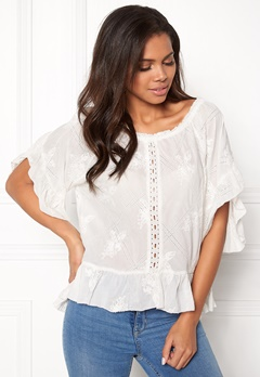 Odd Molly Clever Heart Blouse Offwhite Bubbleroom.no