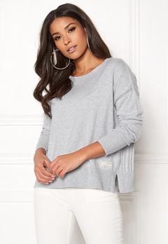 Odd Molly Miss Soft Sweater Light Grey Melange Bubbleroom.no