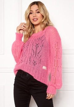 Odd Molly Mystery Fields Sweater Pink Lemonade Bubbleroom.no