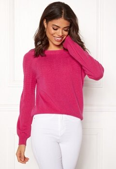 Odd Molly Soft Pursuit Sweater Hot Pink Bubbleroom.no