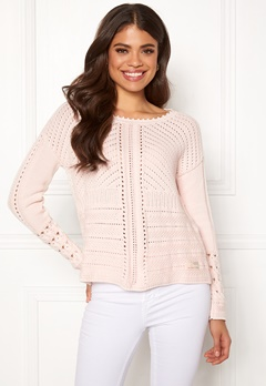 Odd Molly Symmetry Moves Sweater Pink Porcelain Bubbleroom.no