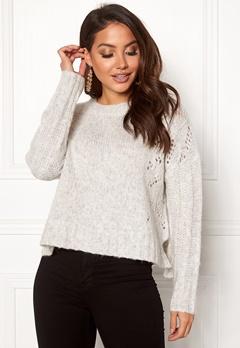 Odd Molly Upbeat Sweater Light Grey Melange Bubbleroom.no