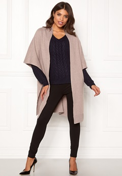 VILA Olivena Knit Cape Natural Melange Bubbleroom.no