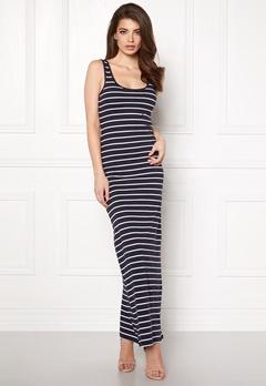 ONLY Abbie Stripe Long Dress Night Sky Stripe Bubbleroom.no