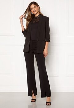 ONLY Adina-Velma MW Flare Slit Pant Black Bubbleroom.no