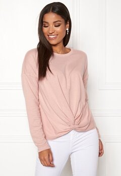 ONLY Alberta L/S Knot Top Misty Rose Bubbleroom.no