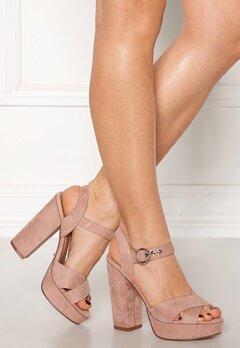 ONLY Allie Wide Heeled Sandal Light Pink Bubbleroom.no