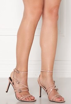 ONLY Alyx PU Heeled Sandal Nude Bubbleroom.no