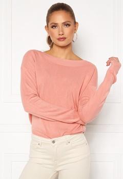ONLY Amalia L/S Boatneck Pullover Blush Bubbleroom.no