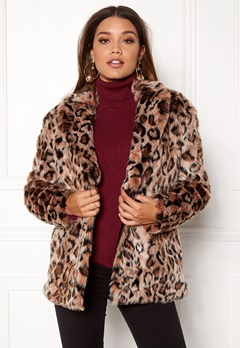 ONLY Amy Fur Coat Silver Mink Bubbleroom.no
