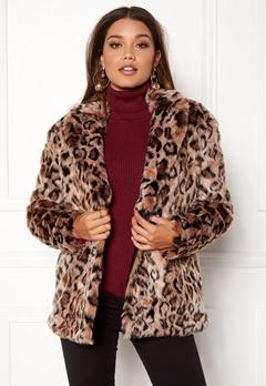 ONLY Amy Fur Coat Silver Mink Bubbleroom.no