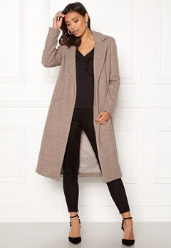 ONLY Amy Sharon Wool Coat Simply Taupe Bubbleroom.no