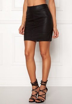 ONLY Base Faux Leather Skirt Black Bubbleroom.no