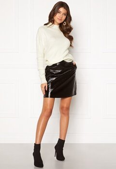 ONLY Bella Faux Leather Skirt Black Bubbleroom.no