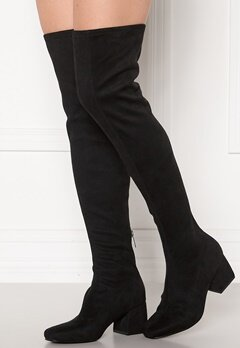 ONLY Billie Long Heeled Boot Black Bubbleroom.no