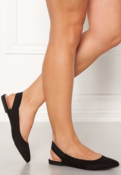 ONLY Blondie Heel Ballerina Black Bubbleroom.no
