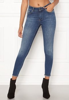 ONLY Blush Mid Ank Raw Jeans Dark Blue Denim Bubbleroom.no
