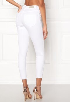 ONLY Blush Mid Ankle Jeans White Bubbleroom.no