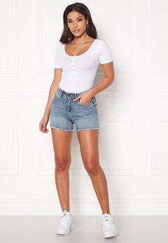 ONLY Blush Mid Raw Shorts Light Blue Denim Bubbleroom.no