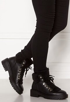 ONLY Bold PU Fur Winter Boot Black Bubbleroom.no