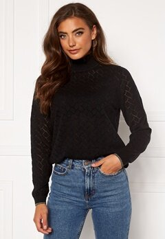 ONLY Brandi Life L/S Pullover Black Bubbleroom.no