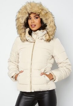 ONLY Camilla Quilted Jacket Oatmeal bubbleroom.no
