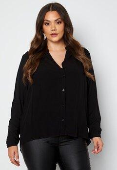 Only Carmakoma Anita LS Shirt Black Bubbleroom.no