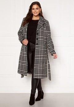 Only Carmakoma Fandanga LS Long Coat Black, AOP Bubbleroom.no