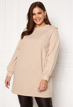 Only Carmakoma Louse LS Tunic Sweat Cement Bubbleroom.no