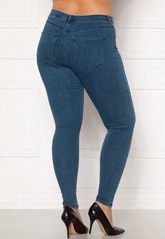 Only Carmakoma Storm Push Up HW SK Jeans Medium Blue Denim Bubbleroom.no
