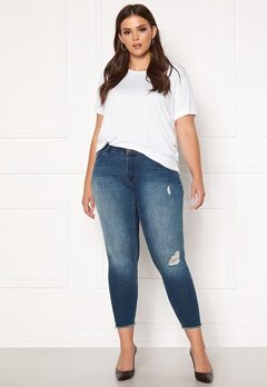 Only Carmakoma Willy Reg Skinny Ank Jeans MBD Medium Blue Denim Bubbleroom.no