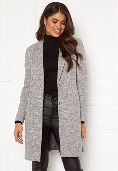 ONLY Carrie Mel Coat Light Grey Melange Bubbleroom.no