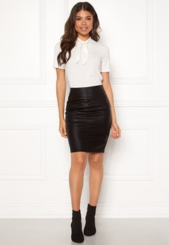 ONLY Celina Faux Leather Skirt Black Bubbleroom.no