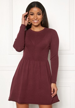 ONLY Chanette l/s Dress Tawny Port Bubbleroom.no