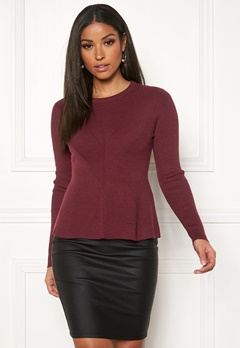 ONLY Chanette l/s Pullover Tawny Port Bubbleroom.no