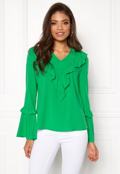 ONLY Chloe Bellsleeved Top Bright Green Bubbleroom.no