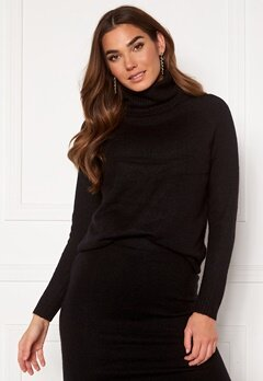 ONLY Cille L/S Rollneck Pullover Black Bubbleroom.no