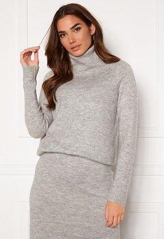 ONLY Cille L/S Rollneck Pullover Ligth Grey Melange Bubbleroom.no