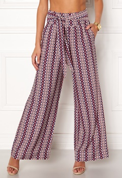 ONLY Daisy Palazzo Tie Pant Cloud Dancer Bubbleroom.no