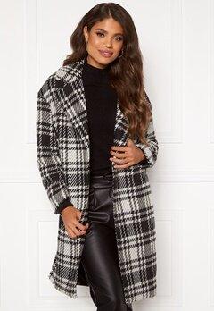 ONLY Dajana Check Wool Coat OTW Black Bubbleroom.no