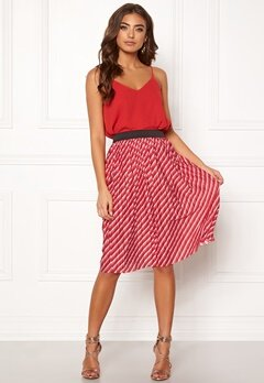 ONLY Disco Skirt High Risk Red Bubbleroom.no