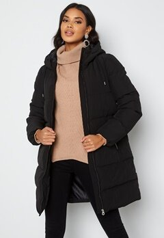 ONLY Dolly Long Puffer Coat Black bubbleroom.no