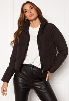 ONLY Dolly Short Puffer Jacket Black Bubbleroom.no