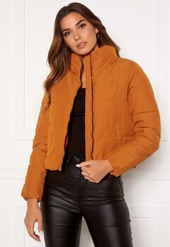 ONLY Dolly Short Puffer Jacket Pumpkin Spice Bubbleroom.no
