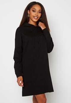 ONLY Dreamer Life Sweat Hood Dress Black Bubbleroom.no