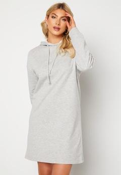 ONLY Dreamer Life Sweat Hood Dress Ligth Grey Melange Bubbleroom.no